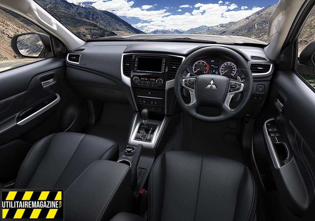 l'intérieur du nouveau L200 2019, confortable et qualité des matériaux