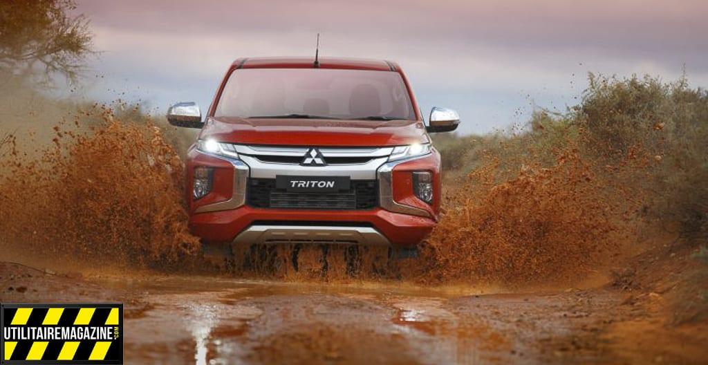 le nouveau pick up Mitsubishi L200 2019 conserve des capacités de franchissement qui intéresseront les professionnels qui cherchent un VU capable d'aller dans des chemins