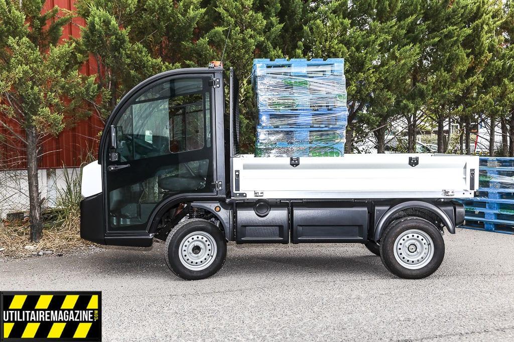 Le plateau du Goupil G4 peut permettre de transporter deux euro palettes