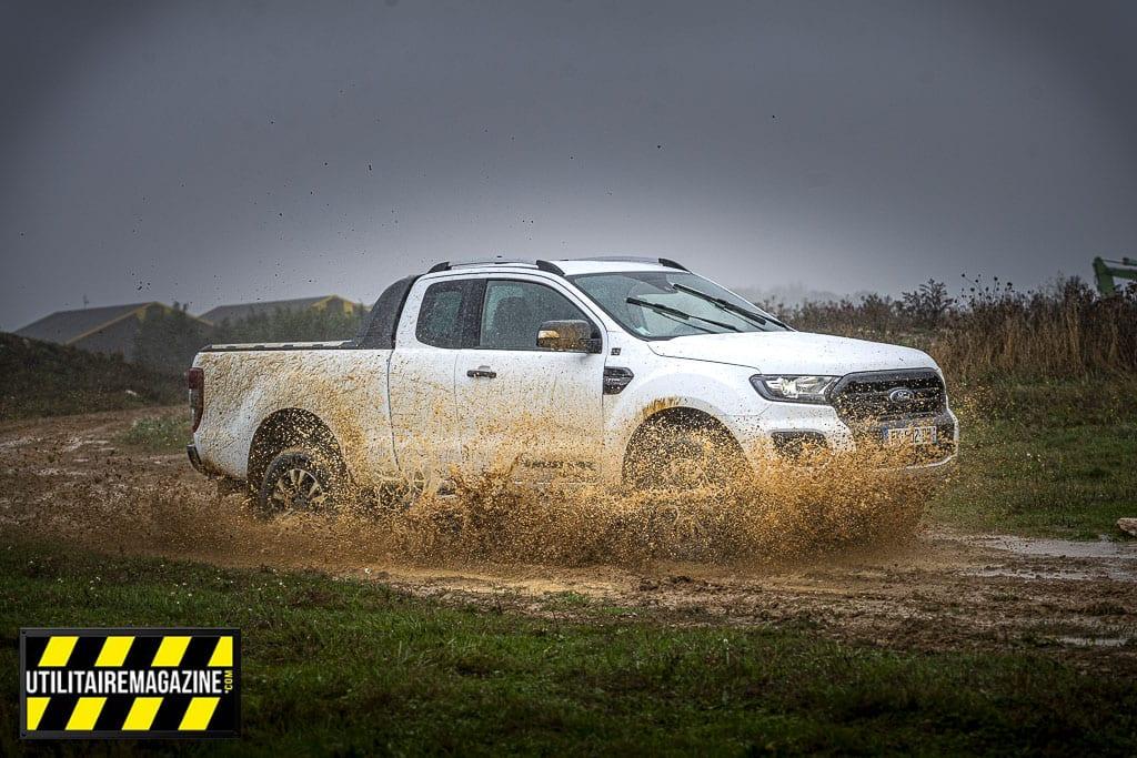 notre essai du Ford Ranger s'est déroulé dans des conditions météo idéales pour tester ses capacités off road