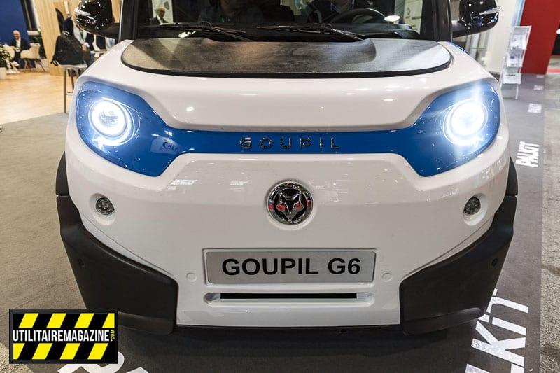 G6 le nouvel utilitaire électrique de Goupil s'offre un nouveau design et fait 1.7 m de large.