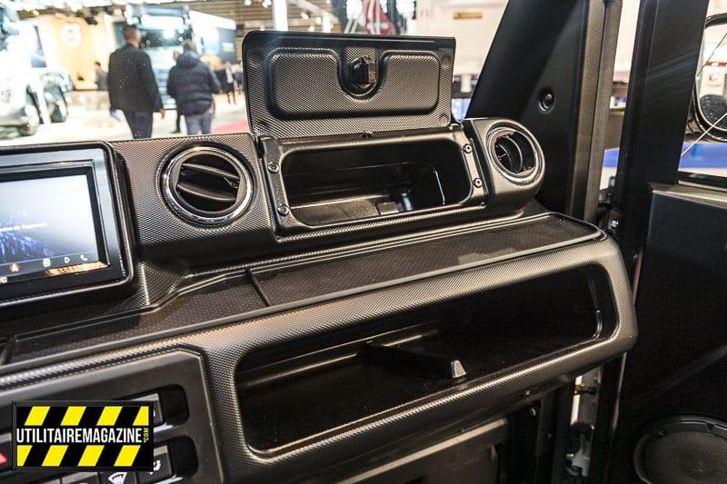Le G6 dispose de différents rangements pratiques répartis dans la cabine.