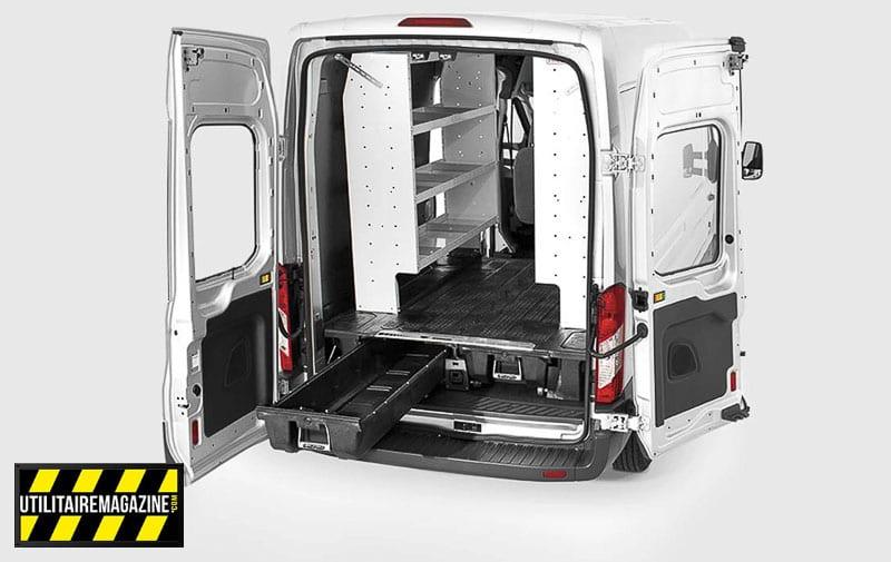 Les tiroirs Decked sont disponibles pour équiper aussi les fourgons utilitaires