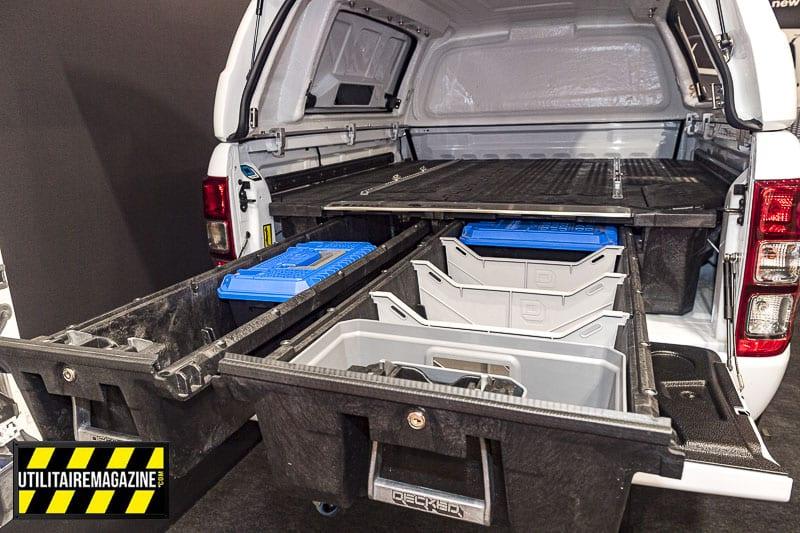 Tiroirs Decked pratique pour ranger ses outils et du matériel.