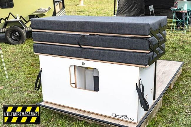 la Ocebox fermée est compacte et s'installe en quelques minutes dans votre utilitaire