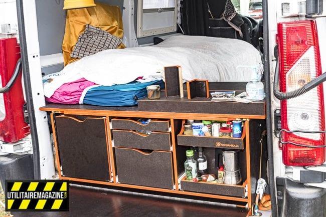 La malle Campinambulle est adaptée aux véhicules utilitaires, fourgons et fourgonnettes