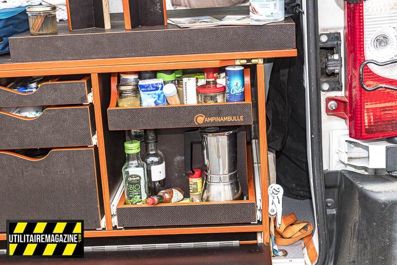 Malle Campinambulle pour transformer son utilitaire, fourgons et camionnettes en véhicule de loisir