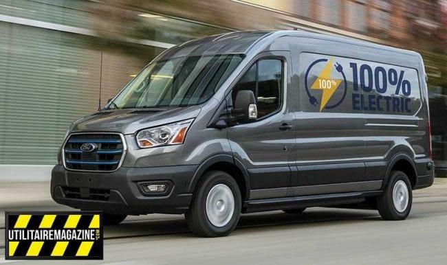 E transit électrique, un Ford utilitaire prévu avec au minimum 350 km d'autonomie
