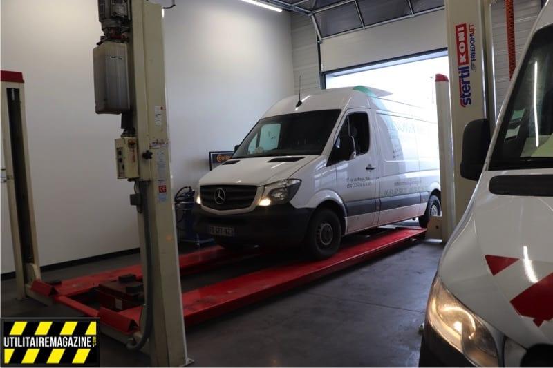 Arrivée au Service Express d'un Mercedes Benz Sprinter