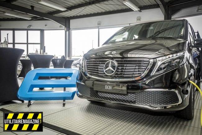 Mercedes EQV électrique.