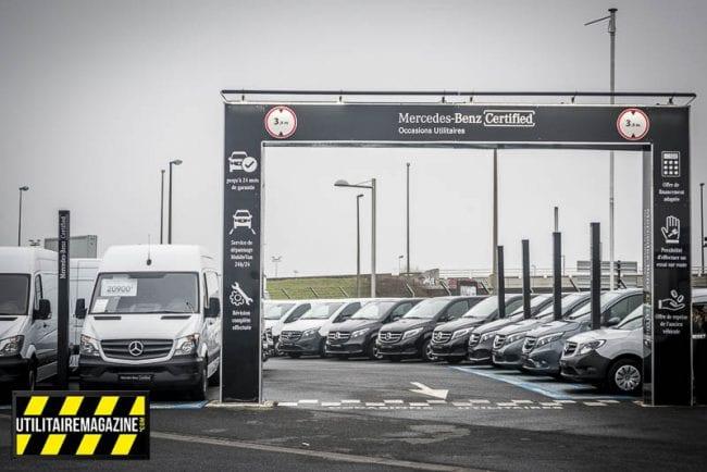 Le parc VO ne comprend que des véhicules utilitaires Merxcedes certifiés, garantis 24 mois et 12 mois sans entretien.