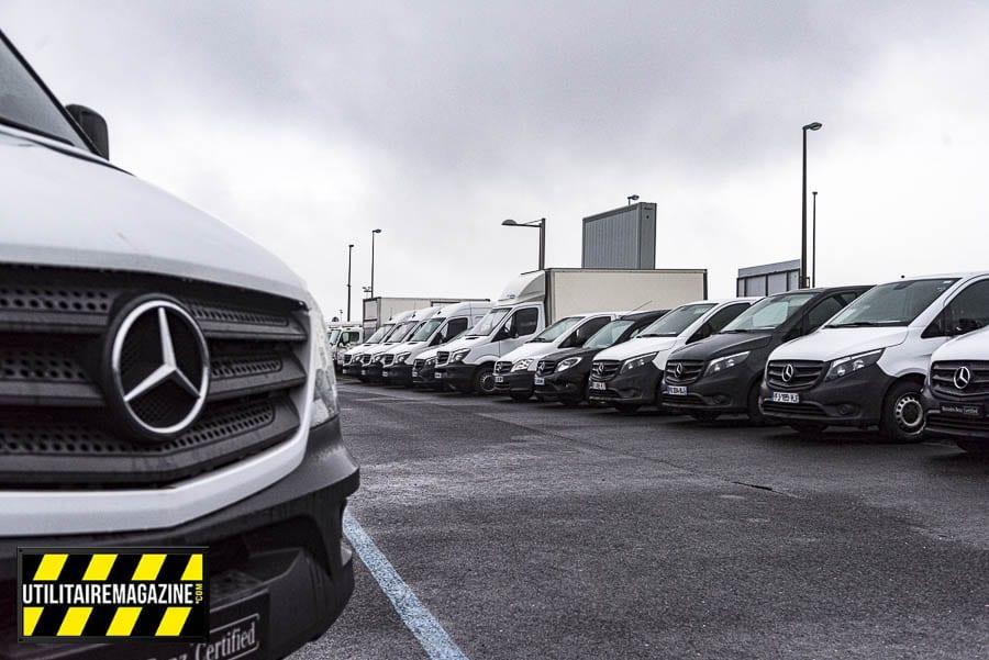 Utilitaires d'occasion Mercedes-Benz en concession. Le Label Certified apporte une garantie sur les VU.